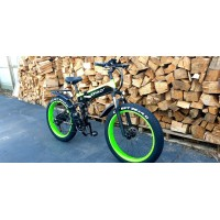 "Electric Folding E-Bike 26"" Fat Boy Wheels LG 500w"